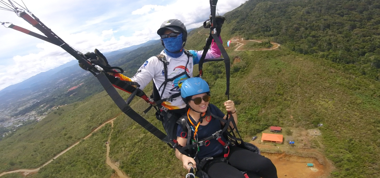 Tandem Paragliding - Fly As Passenger